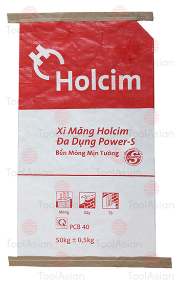 holcim paper poly cement bags