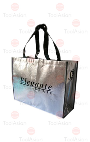 non woven fabric shopping bags metallic laminated