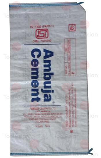 poly woven ambuja cement bag