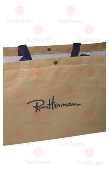 shopping bag made from kraft paper laminated fabric
